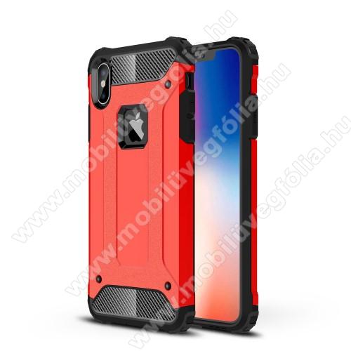 OTT! MAX DEFENDER műanyag védő tok / hátlap - PIROS - szilikon belső, ERŐS VÉDELEM! - APPLE iPhone XS Max