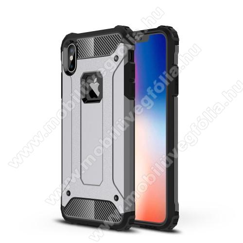 OTT! MAX DEFENDER műanyag védő tok / hátlap - SZÜRKE - szilikon belső, ERŐS VÉDELEM! - APPLE iPhone XS Max