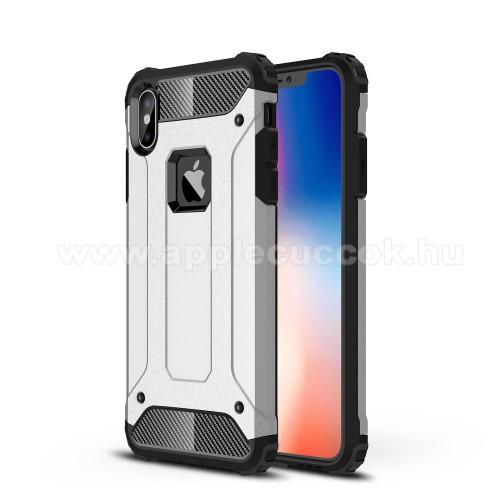 OTT! MAX DEFENDER műanyag védő tok / hátlap - EZÜST - szilikon belső, ERŐS VÉDELEM! - APPLE iPhone XS Max
