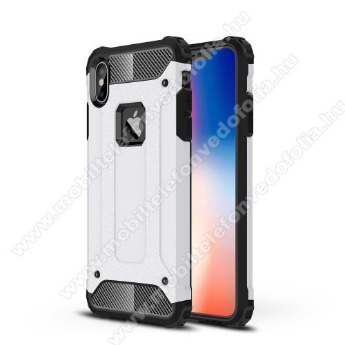 OTT! MAX DEFENDER műanyag védő tok / hátlap - FEHÉR - szilikon belső, ERŐS VÉDELEM! - APPLE iPhone XS Max