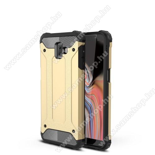 OTT! MAX DEFENDER műanyag védő tok / hátlap - ARANY - szilikon belső, ERŐS VÉDELEM! - SAMSUNG SM-J610F Galaxy J6+