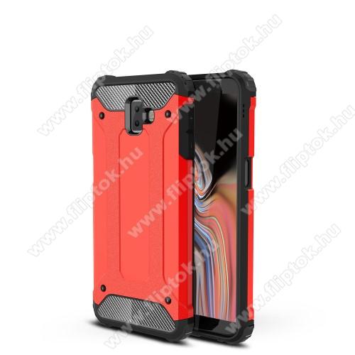 OTT! MAX DEFENDER műanyag védő tok / hátlap - PIROS - szilikon belső, ERŐS VÉDELEM! - SAMSUNG SM-J610F Galaxy J6+