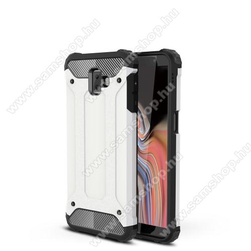 OTT! MAX DEFENDER műanyag védő tok / hátlap - FEHÉR - szilikon belső, ERŐS VÉDELEM! - SAMSUNG SM-J610F Galaxy J6+