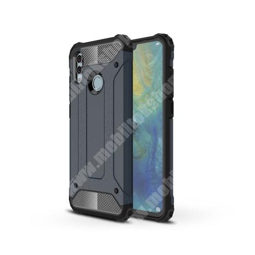 OTT! MAX DEFENDER műanyag védő tok / hátlap - SÖTÉTKÉK - szilikon belső, ERŐS VÉDELEM! - HUAWEI P Smart (2019) / HUAWEI Honor 10 Lite