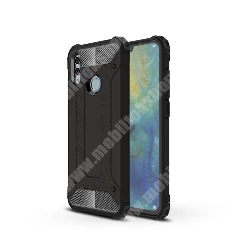 OTT! MAX DEFENDER műanyag védő tok / hátlap - FEKETE - szilikon belső, ERŐS VÉDELEM! - HUAWEI P Smart (2019) / HUAWEI Honor 10 Lite