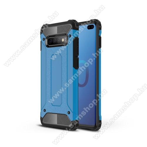 OTT! MAX DEFENDER műanyag védő tok / hátlap - VILÁGOSKÉK - szilikon belső, ERŐS VÉDELEM! - SAMSUNG SM-G975F Galaxy S10+
