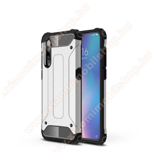 OTT! MAX DEFENDER műanyag védő tok / hátlap - EZÜST - szilikon belső, ERŐS VÉDELEM! - Xiaomi Mi 9 / Xiaomi Mi 9 Explorer