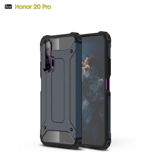 OTT! MAX DEFENDER műanyag védő tok / hátlap - SÖTÉTKÉK - szilikon belső, ERŐS VÉDELEM! - HUAWEI Honor 20 Pro