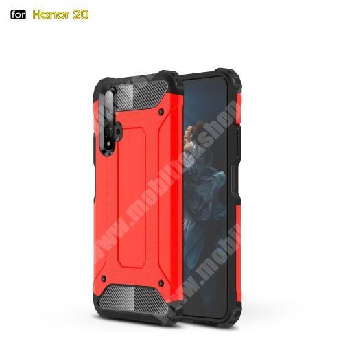 OTT! MAX DEFENDER műanyag védő tok / hátlap - PIROS - szilikon belső, ERŐS VÉDELEM! - HUAWEI Honor 20 / HUAWEI Honor 20S / HUAWEI nova 5T
