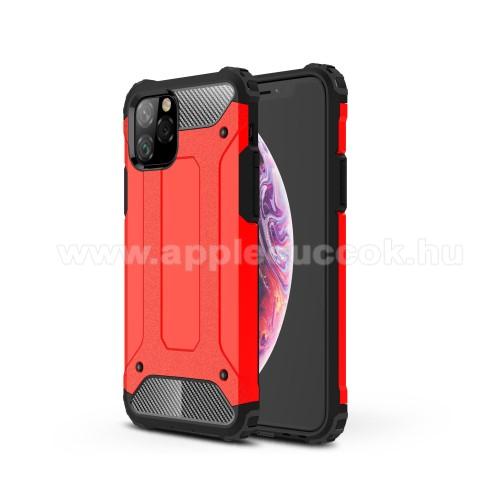 OTT! MAX DEFENDER műanyag védő tok / hátlap - PIROS - szilikon belső, ERŐS VÉDELEM! - APPLE iPhone 11 Pro