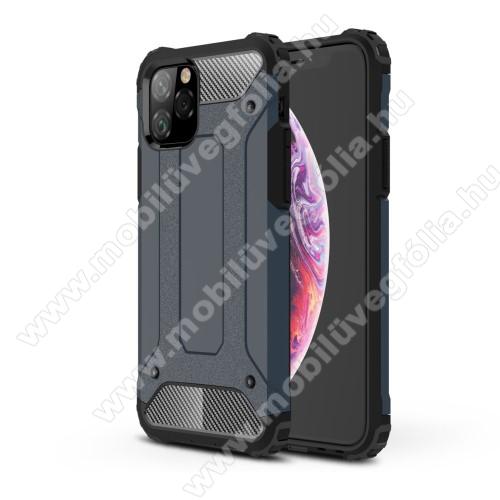 OTT! MAX DEFENDER műanyag védő tok / hátlap - SÖTÉTKÉK - szilikon belső, ERŐS VÉDELEM! - APPLE iPhone 11 Pro