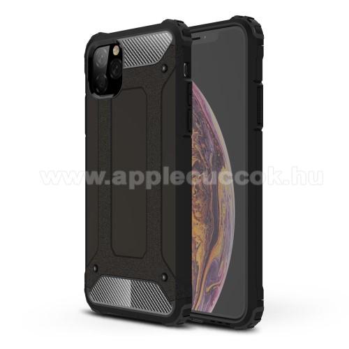 OTT! MAX DEFENDER műanyag védő tok / hátlap - FEKETE - szilikon belső, ERŐS VÉDELEM! - APPLE iPhone 11 Pro Max