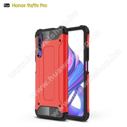 OTT! MAX DEFENDER műanyag védő tok / hátlap - PIROS - szilikon belső, ERŐS VÉDELEM! - HUAWEI P smart Pro (2019) / HUAWEI Y9s / Honor 9X (For China market) / Honor 9X Pro (For China)