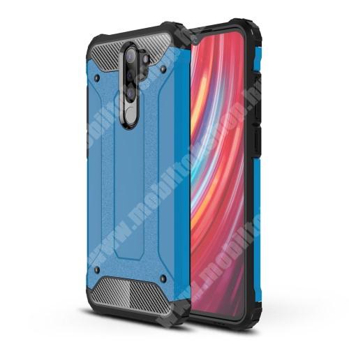 OTT! MAX DEFENDER műanyag védő tok / hátlap - VILÁGOSKÉK - szilikon belső, ERŐS VÉDELEM! - Xiaomi Redmi Note 8 Pro