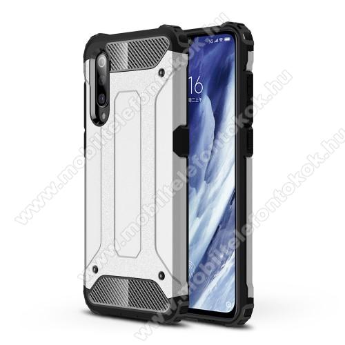 OTT! MAX DEFENDER műanyag védő tok / hátlap - EZÜST - szilikon belső, ERŐS VÉDELEM! - Xiaomi Mi 9 Pro / Xiaomi Mi 9 Pro 5G