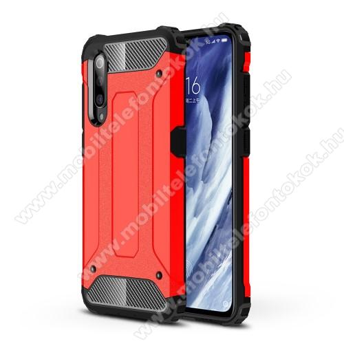 OTT! MAX DEFENDER műanyag védő tok / hátlap - PIROS - szilikon belső, ERŐS VÉDELEM! - Xiaomi Mi 9 Pro / Xiaomi Mi 9 Pro 5G