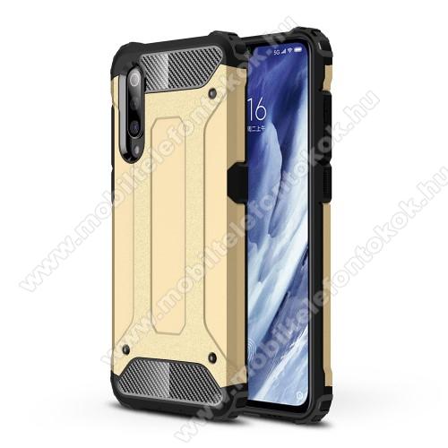 OTT! MAX DEFENDER műanyag védő tok / hátlap - ARANY - szilikon belső, ERŐS VÉDELEM! - Xiaomi Mi 9 Pro / Xiaomi Mi 9 Pro 5G