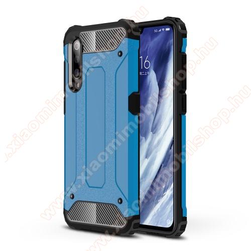 OTT! MAX DEFENDER műanyag védő tok / hátlap - VILÁGOSKÉK - szilikon belső, ERŐS VÉDELEM! - Xiaomi Mi 9 Pro / Xiaomi Mi 9 Pro 5G