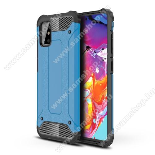 OTT! MAX DEFENDER műanyag védő tok / hátlap - VILÁGOSKÉK - szilikon belső, ERŐS VÉDELEM! - SAMSUNG Galaxy A51 (SM-A515F)