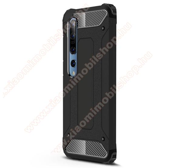 OTT! MAX DEFENDER műanyag védő tok / hátlap - FEKETE - szilikon belső, ERŐS VÉDELEM! - Xiaomi Mi 10 5G / Xiaomi Mi 10 Pro 5G