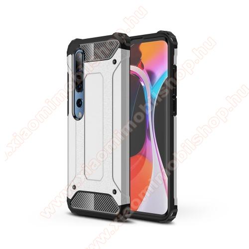 OTT! MAX DEFENDER műanyag védő tok / hátlap - EZÜST - szilikon belső, ERŐS VÉDELEM! - Xiaomi Mi 10 5G / Xiaomi Mi 10 Pro 5G
