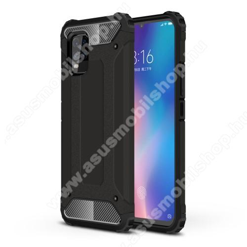 OTT! MAX DEFENDER műanyag védő tok / hátlap - FEKETE - szilikon belső, ERŐS VÉDELEM! - Xiaomi Mi 10 Lite 5G / Xiaomi Mi 10 Youth 5G / Xiaomi Mi 10 Lite Zoom