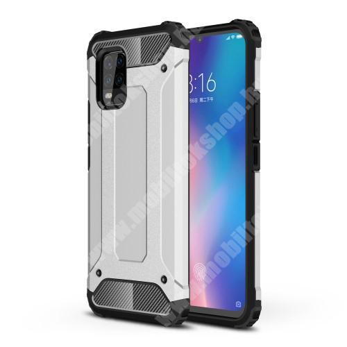 OTT! MAX DEFENDER műanyag védő tok / hátlap - EZÜST - szilikon belső, ERŐS VÉDELEM! - Xiaomi Mi 10 Lite 5G / Xiaomi Mi 10 Youth 5G / Xiaomi Mi 10 Lite Zoom