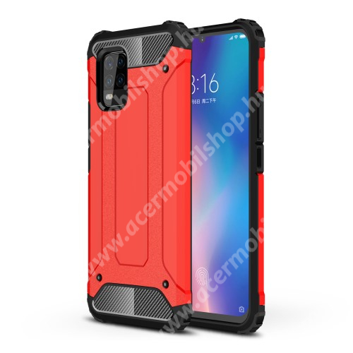 OTT! MAX DEFENDER műanyag védő tok / hátlap - PIROS - szilikon belső, ERŐS VÉDELEM! - Xiaomi Mi 10 Lite 5G / Xiaomi Mi 10 Youth 5G / Xiaomi Mi 10 Lite Zoom
