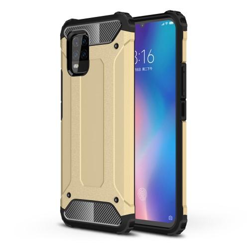 OTT! MAX DEFENDER műanyag védő tok / hátlap - ARANY - szilikon belső, ERŐS VÉDELEM! - Xiaomi Mi 10 Lite 5G / Xiaomi Mi 10 Youth 5G / Xiaomi Mi 10 Lite Zoom