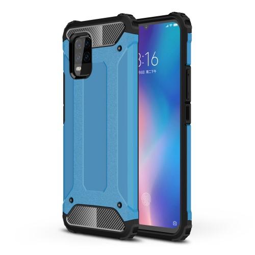 OTT! MAX DEFENDER műanyag védő tok / hátlap - VILÁGOSKÉK - szilikon belső, ERŐS VÉDELEM! - Xiaomi Mi 10 Lite 5G / Xiaomi Mi 10 Youth 5G / Xiaomi Mi 10 Lite Zoom