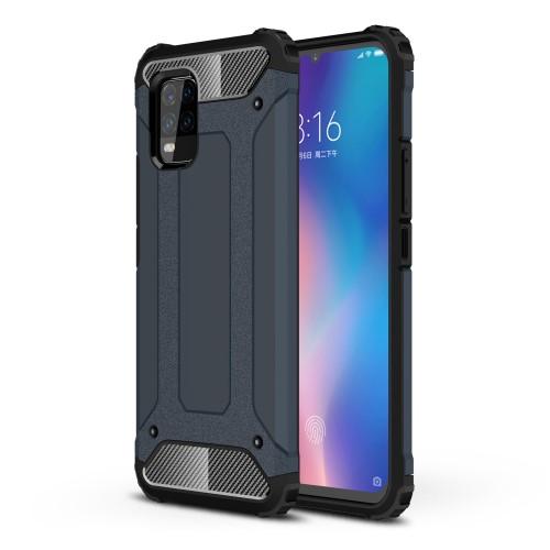 OTT! MAX DEFENDER műanyag védő tok / hátlap - SÖTÉTKÉK - szilikon belső, ERŐS VÉDELEM! - Xiaomi Mi 10 Lite 5G / Xiaomi Mi 10 Youth 5G / Xiaomi Mi 10 Lite Zoom