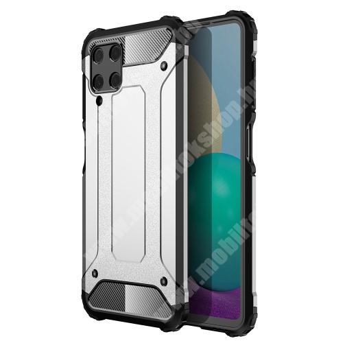 OTT! MAX DEFENDER műanyag védő tok / hátlap - EZÜST - szilikon belső, ERŐS VÉDELEM! - SAMSUNG Galaxy A22 4G (SM-A225F)