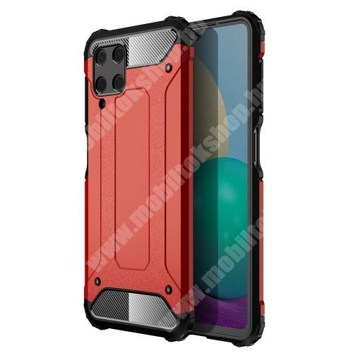 OTT! MAX DEFENDER műanyag védő tok / hátlap - PIROS - szilikon belső, ERŐS VÉDELEM! - SAMSUNG Galaxy A22 4G (SM-A225F)