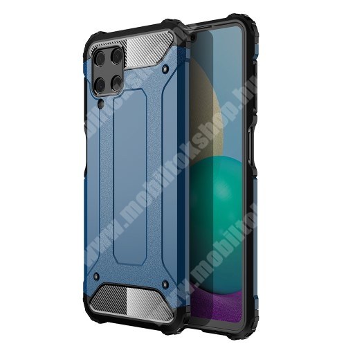 OTT! MAX DEFENDER műanyag védő tok / hátlap - VILÁGOSKÉK - szilikon belső, ERŐS VÉDELEM! - SAMSUNG Galaxy A22 4G (SM-A225F)
