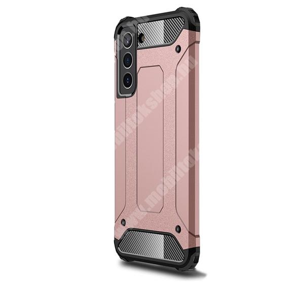 OTT! MAX DEFENDER műanyag védő tok / hátlap - ROSE GOLD - szilikon belső, ERŐS VÉDELEM! - SAMSUNG Galaxy S21 FE (SM-G990B, SM-G990B/DS)