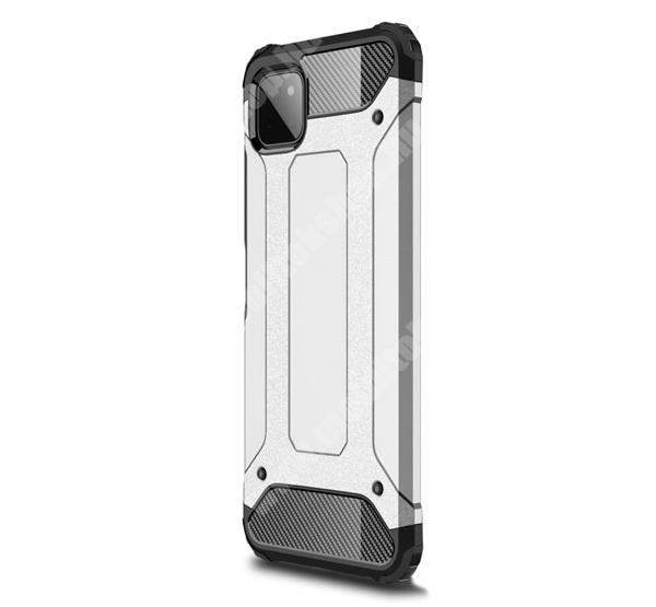 OTT! MAX DEFENDER műanyag védő tok / hátlap - EZÜST - szilikon belső, ERŐS VÉDELEM! - SAMSUNG Galaxy A22 5G (SM-A226)