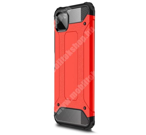 OTT! MAX DEFENDER műanyag védő tok / hátlap - PIROS - szilikon belső, ERŐS VÉDELEM! - SAMSUNG Galaxy A22 5G (SM-A226)