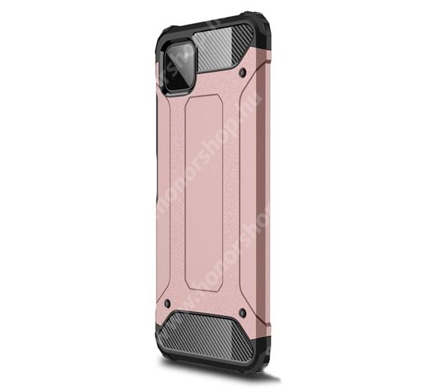 OTT! MAX DEFENDER műanyag védő tok / hátlap - ROSE GOLD - szilikon belső, ERŐS VÉDELEM! - SAMSUNG Galaxy A22 5G (SM-A226)