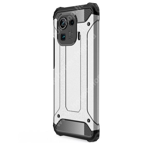 OTT! MAX DEFENDER műanyag védő tok / hátlap - EZÜST - szilikon belső, ERŐS VÉDELEM! - Xiaomi Mi 11 Pro