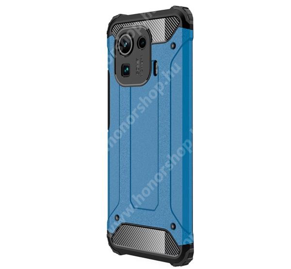 OTT! MAX DEFENDER műanyag védő tok / hátlap - VILÁGOSKÉK - szilikon belső, ERŐS VÉDELEM! - Xiaomi Mi 11 Pro