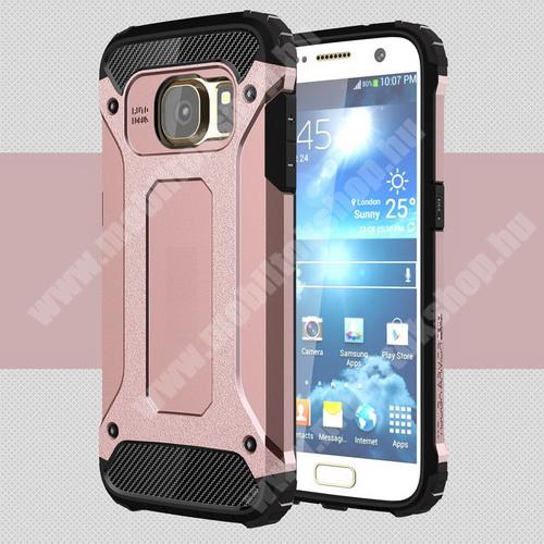 OTT! MAX DEFENDER műanyag védő tok / hátlap - ROSE GOLD - szilikon belső, ERŐS VÉDELEM! - SAMSUNG SM-G930 Galaxy S7