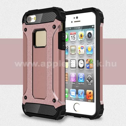 APPLE IPhone 5SOTT! MAX DEFENDER műanyag védő tok / hátlap - ROSE GOLD - szilikon belső, ERŐS VÉDELEM! - APPLE IPHONE 5 / IPHONE 5S / IPHONE SE