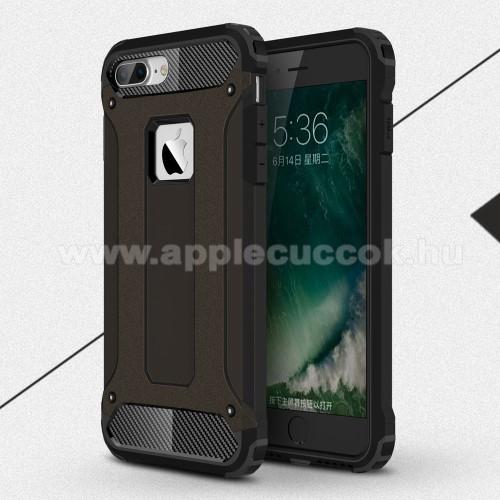 OTT! MAX DEFENDER műanyag védő tok / hátlap - FEKETE - szilikon belső, ERŐS VÉDELEM! - APPLE iPhone 7