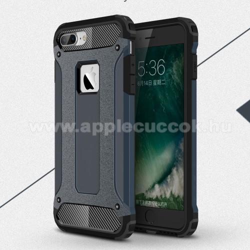 APPLE iPhone 7 PlusOTT! MAX DEFENDER műanyag védő tok / hátlap - SÖTÉTKÉK - szilikon belső, ERŐS VÉDELEM! - APPLE iPhone 7 Plus (5.5)