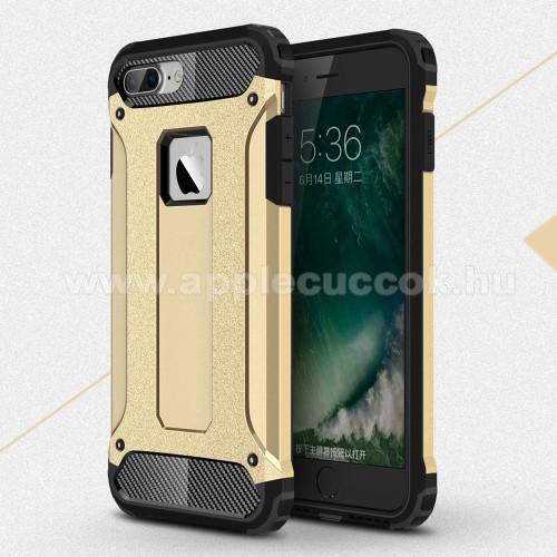 APPLE iPhone 7 PlusOTT! MAX DEFENDER műanyag védő tok / hátlap - ARANY - szilikon belső, ERŐS VÉDELEM! - APPLE iPhone 7 Plus (5.5)