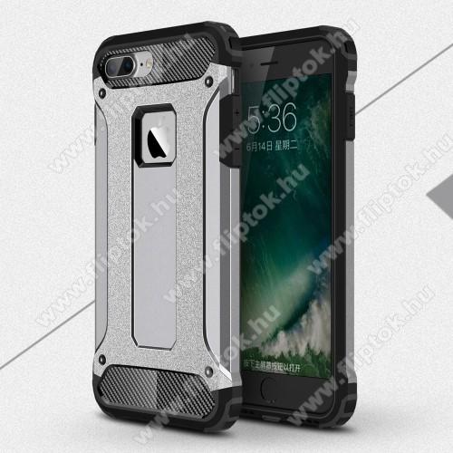 OTT! MAX DEFENDER műanyag védő tok / hátlap - SZÜRKE - szilikon belső, ERŐS VÉDELEM! - APPLE iPhone 7 Plus (5.5)