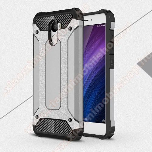 OTT! MAX DEFENDER műanyag védő tok / hátlap - SZÜRKE - szilikon belső, ERŐS VÉDELEM! - Xiaomi Redmi 4