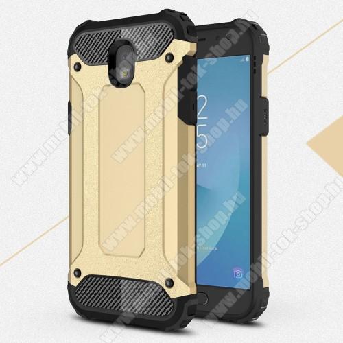 OTT! MAX DEFENDER műanyag védő tok / hátlap - ARANY - szilikon belső, ERŐS VÉDELEM! - SAMSUNG SM-J530 Galaxy J5 (2017)