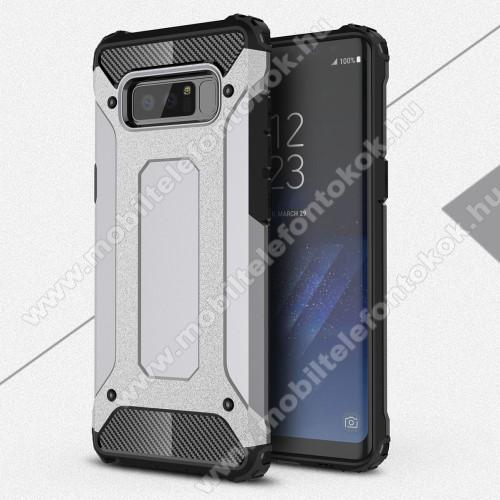 OTT! MAX DEFENDER műanyag védő tok / hátlap - SZÜRKE - szilikon belső, ERŐS VÉDELEM! - SAMSUNG SM-N950F Galaxy Note8