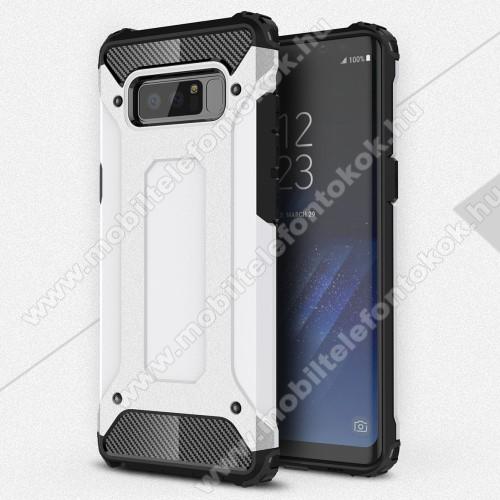 OTT! MAX DEFENDER műanyag védő tok / hátlap - FEHÉR - szilikon belső, ERŐS VÉDELEM! - SAMSUNG SM-N950F Galaxy Note8